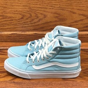 Vans Sk8 Hi Slim Crystal Blue True White High Top